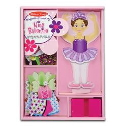 Melissa & Doug Nina Ballerina Dress-up Doll with Magnetic Outfits