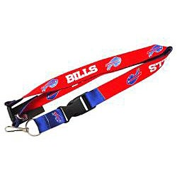 Buffalo Bills Reversible Lanyard Keychain Ticket ID Holder - Thumbnail 2