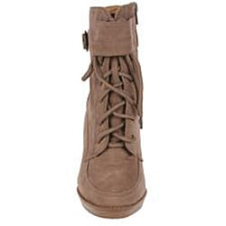 Elegant Women's Nude Peggy-1 High Heel Combat Ankle Boots - Thumbnail 2