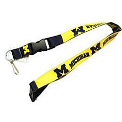 Michigan Wolverines Reversible Lanyard Keychain Ticket ID Holder - Thumbnail 2
