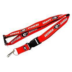 Georgia Bulldogs Reversible Lanyard Keychain Ticket ID Holder - Thumbnail 2
