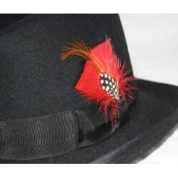 Ferrecci Men's Black Wool Godfather Hat - Thumbnail 2