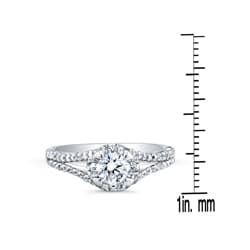 14k White Gold 1ct TDW Diamond Engagement Ring (H-I, I2-I3) - Thumbnail 2