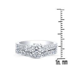 14k White Gold 1ct TDW Diamond Bridal Ring Set (H-I, I2-I3) - Thumbnail 2