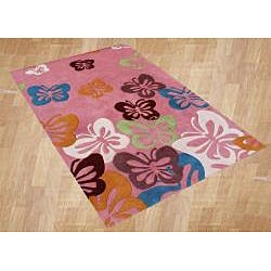 Alliyah Handmade Pink New Zealand Blend Wool Rug  (5' x 8') - Thumbnail 2