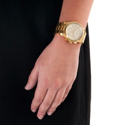 Republic Women's Goldtone Stainless Steel Chronograph Watch - Thumbnail 2