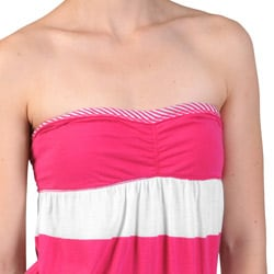 Ci Sono by Journee Juniors' Sleeveless Empire-Waist Striped Cotton Top