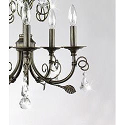 Sapri 5-light Brushed Oak Chandelier with Crystal - Thumbnail 2
