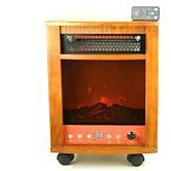 Dr Infrared Heater Fireplace with Dual Heating System