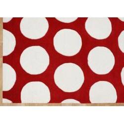 Alliyah Handmade Red New Zealand Blend Wool Rug (5' x 8') - Thumbnail 2