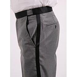Ferrecci Men's Single-button Shawl-collar Grey Tuxedo - Thumbnail 2