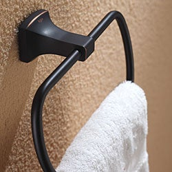Kraus Fortis Oil Rubbed Bronze Square Towel Ring