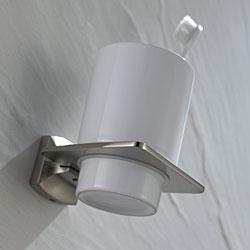 Kraus Fortis Bathroom Accessories - Wall-mounted Ceramic Tumbler Holder Brushed Nickel