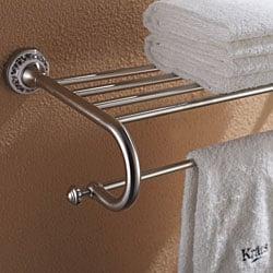 Kraus Apollo Bathroom Accessories - Bath Towel Rack with Towel Bar Brushed Nickel
