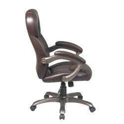 Office Star Executive Eco Leather Chair with Padded Arms and Coated Base - Thumbnail 2