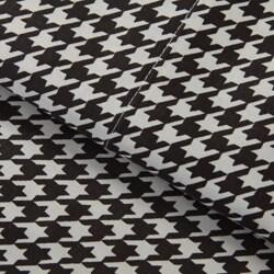 Cotton Sateen 300 Thread Count Houndstooth Sheet Set - Thumbnail 2