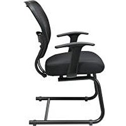 Office Star Professional Dark Air Grid Back Mesh Seat Visitors Chair - Thumbnail 2