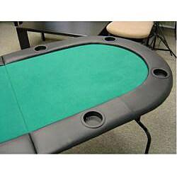 Bi-fold 73-inch Green Texas Hold'em Poker Table - Thumbnail 2