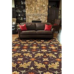 Hand-tufted Coffee Wool Rug (8' x 11') - Thumbnail 2