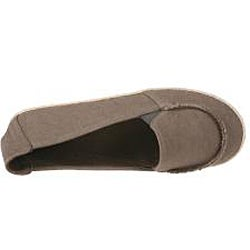 Refresh by Beston Women's 'Lala' Taupe Canvas Flats - Thumbnail 2