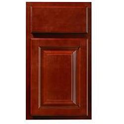 Rich Cherry Wall Mullion Door 24-inch Cabinet