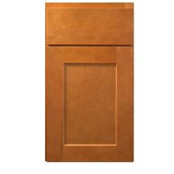 Honey Stained 18-inch Wide Mullion Doors Cabinet
