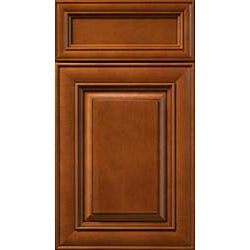 Honey Stain/Chocolate Glaze Wall Kitchen Cabinet (30x36)