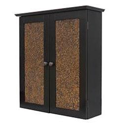 Fifth Avenue Espresso/ Amber Glass 2-door Cabinet