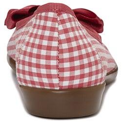 A2 by Aerosoles Women's 'Becomend' Pink/ White Checkered Ballet Flats - Thumbnail 2