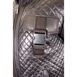 Hudson Outerwear Men's Black Leather Quilted Jacket - Thumbnail 2