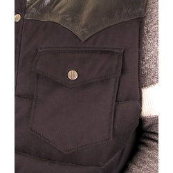 Hudson Outerwear Men's Big and Tall Cotton Leather Yoke Quilted Vest - Thumbnail 2