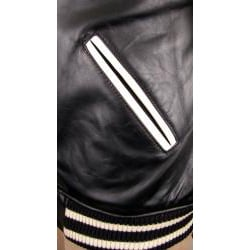 Hudson Outerwear Men's Big and Tall Leather Varsity Jacket - Thumbnail 2