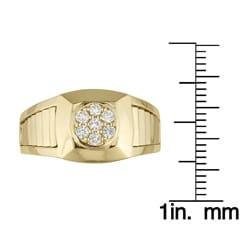 10k Yellow Gold Men's 1/3ct TDW Round Diamond Ring (H-I, I1-I2)