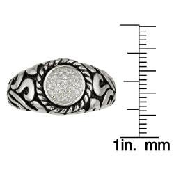Sterling Silver Men's 1/4ct TDW Round Diamond Ring (H-I, I1-I2)
