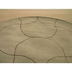 Hand Tufted Santana Abstract Wool Rug (6' Round)