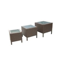 Wicker Patio Furniture Planter Stands (Set of 3) - Thumbnail 2