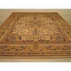 Beige Traditional Oriental Esfahan Rug (5'3 x 7'3) - Thumbnail 2