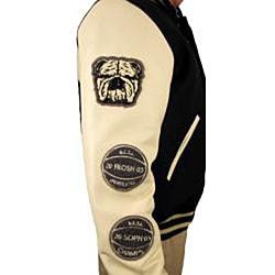 Hudson Outerwear Men's Brooklyn Wool/ Leather Varsity Jacket - Thumbnail 2
