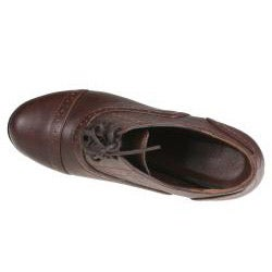 Refresh Women's 'yoyo-01' Brown Oxford Ankle Booties