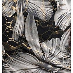 Stanzino Women's Gray/ Black/ Gold Asymmetrical Floral Print Dress - Thumbnail 2