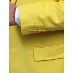 Ferrecci's Men's Yellow Two-Piece Two-Button Suit