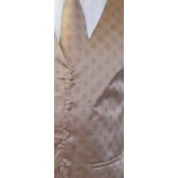 Ferrecci Men's Champagne Four-piece Vest - Thumbnail 2