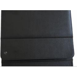 Deluxe Apple iPad PU Leather Binder Case with Keyboard and Kickstand