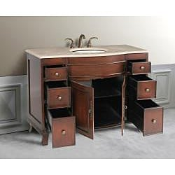 Design Element Edwardian 48-inch Single Sink Traditional Vanity Set