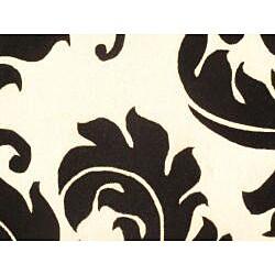Hand-tufted Savannah White Wool Rug (4' x 6')