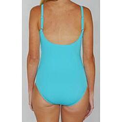 Jantzen Classics Twist Top One-piece Teal Swimsuit - Thumbnail 2