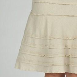 Sharagano Women's Ruffle Linen Skirt