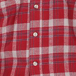Farmall IH Men's Big/Tall Red Plaid Flannel Shirt - Thumbnail 2