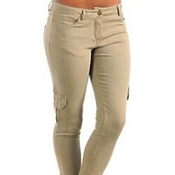 Stanzino Women's Plus Size Olive Skinny Leg Cargo Pants