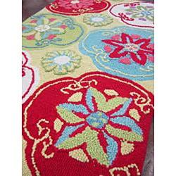 Peony Citron/ Multi Floral Rug (2'3 x 3'9) - Thumbnail 2